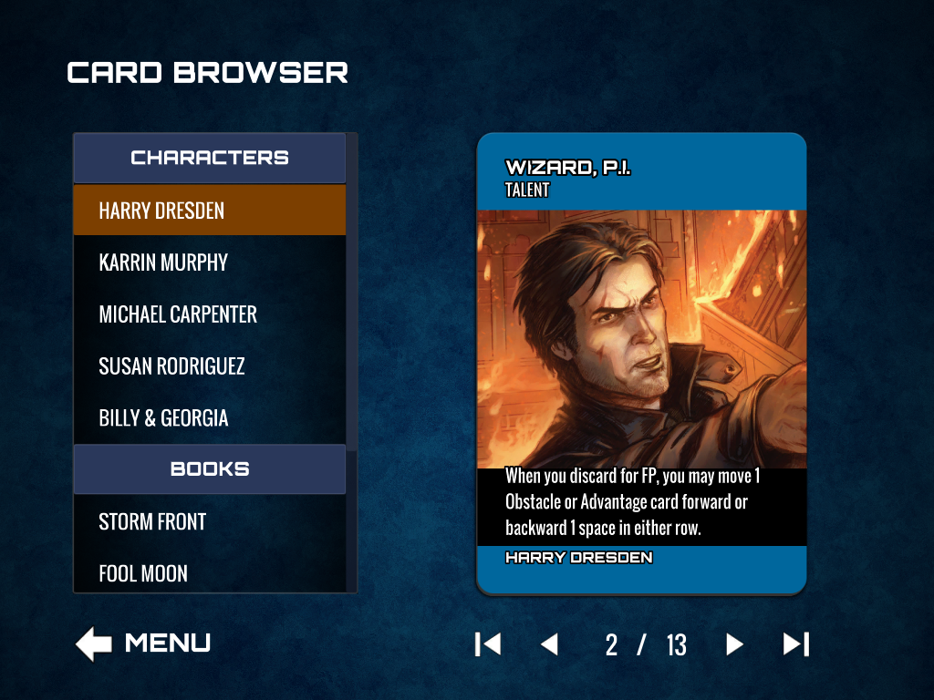 Card Browser Hero Card